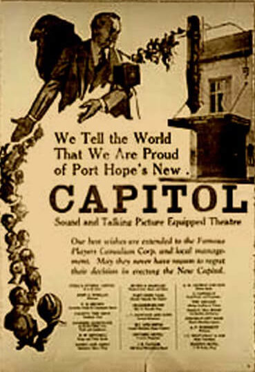 Historic Capitol Theatre Flyer