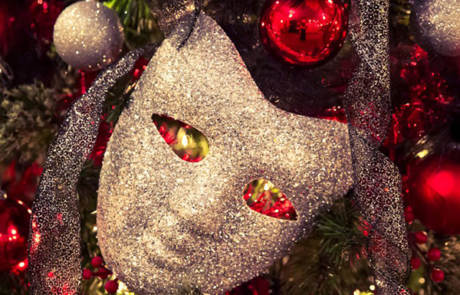 Theatre Mask Christmas Ornament at the Capitol Theatre