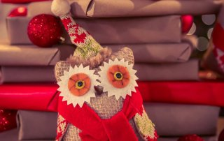Christmas Owl Stuffed Animal