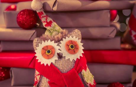 Christmas Owl Stuffed Animal