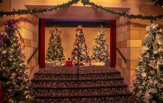 Christmas Trees Up the Stairs at the Capitol Theatre