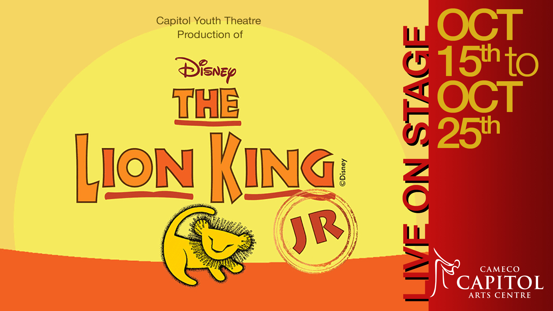 Lion King at the Capitol Theatre