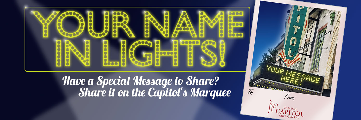 Capitol Theatre Name in Lights